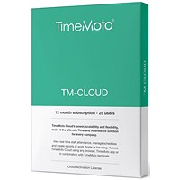 TimeMoto by Safescan Software TM Cloud Essentials for Time & Attendance System - 25 Users
