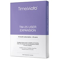 TimeMoto by Safescan TM-25 Cloud User Expansion - 25 Users