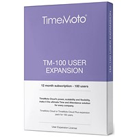 TimeMoto by Safescan TM-100 Cloud User Expansion - 100 Users