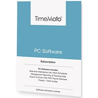 TimeMoto by Safescan TM PC Software for Time & Attendance System - Unlimited Users