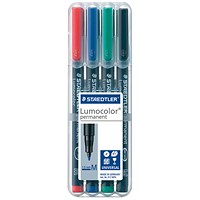 Staedtler Lumocolour Pen Permanent Medium Assorted (Pack of 4)