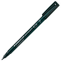 Staedtler Lumocolor Permanent Pen, Fine, Black, Pack of 10