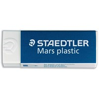 Staedtler Mars Plastic Eraser, Self-cleaning, Pack of 20