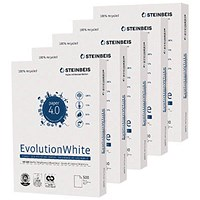 Steinbeis Evolution A4 Recycled White Copier Paper, 80gsm, Box (5 x 500 Sheets)