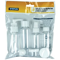 10-Piece Travel Bottle Set (Pack of 8)