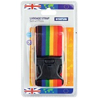 Status Adjustable Multi-Colour Luggage Strap (Pack of 3)