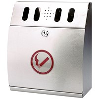 Sterling Curved Wall Mounted Ash Bin Steel 3.7 Litre