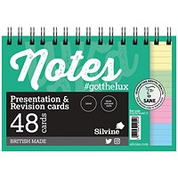 Silvine Revision Presentation/Note Card Twin Assorted (Pack of 10)