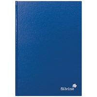 Silvine Feint Ruled Casebound Notebook A4 192 Pages (Pack of 6)