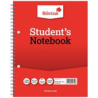 Silvine Ruled Student Notebook 229x178mm 120 Pages (Pack of 12)