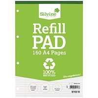 Silvine Everyday Recycled Ruled Refill Pad A4 (Pack of 6)