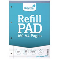 Silvine Narrow Ruled Headbound Refill Pad A4 (Pack of 6)