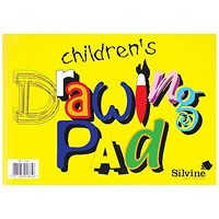 Silvine Children's Drawing Pad A4 (Pack of 12)