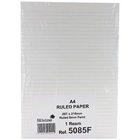 Silvine Feint Ruled Unpunched Fly Paper A4 (Pack of 500)