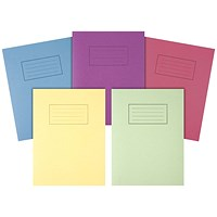 Silvine Exercise Books 229x178mm Assorted (Pack of 10)