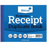 Silvine Carbonless Duplicate Receipt Book 102x127mm (Pack of 12) 720-T