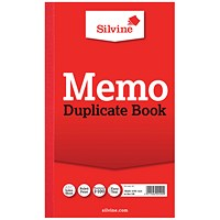Silvine Duplicate Memo Book 210x127mm (Pack of 6) 601