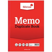 Silvine Duplicate Memo Book A4 (Pack of 6) 614-T