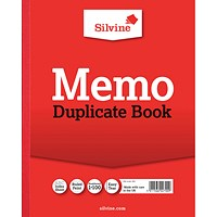 Silvine Duplicate Memo Book 254x203mm (Pack of 6) 602-T