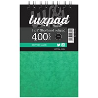 Silvine Luxpad Spiral Shorthand Notebook 400 Pages 127x203mm (Pack of 6)