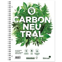 Silvine Carbon Neutral Notebook, A4, Ruled & Perforated, 4 Holes, 120 Pages, Pack of 5