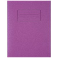 Silvine Exercise Book Ruled 229x178mm Purple (Pack of 10)
