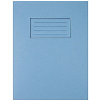 Silvine Exercise Book 7mm Squares 229x178mm Blue (Pack of 10)