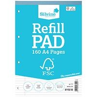 Silvine Envrion Ruled Refill Pad A4 160 Pages (Pack of 5)