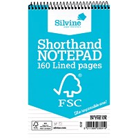 Silvine Envrion Shorthand Notebook 127x203mm (Pack of 10)