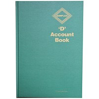 Simplex D Accounts Book One Year 52 Pages Ref:D