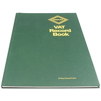 Simplex Hardback VAT Records Book VAT