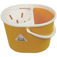 Lucy 15 Litre Mop Bucket Yellow L1405294