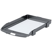 Rexel Agenda Classic 35 Letter Tray, Stackable, W382xD246xH35mm, Charcoal