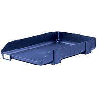 Rexel Agenda Classic 55 Letter Tray, Stackable, W382xH246x55mm, Blue
