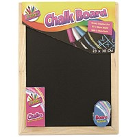 Chalk Board Set With Chalk Board, Chalks And Eraser (Pack of 12)