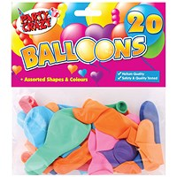 Balloons Assorted Shapes And Colours (Pack of 240)