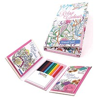 Tallon Adult Colouring Book Travel Set (Pack of 6)