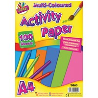 Art Box Activity Paper 100 Sheet A4 Assorted (Pack of 6)