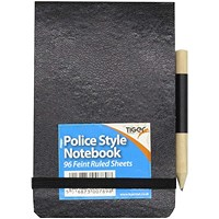 Tiger Police Style Notebook including Pencil (Pack of 12)