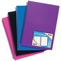 Sundry A4 Wiro Polypropylene Notebook (Pack of 5)