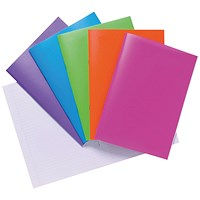 Polypropylene Covered Notebooks A4 40 Sheets Assorted (Pack of 10)