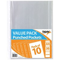 A4 Punched Pockets 30 Micron (Pack of 200)
