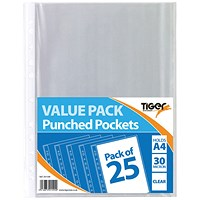 A4 Punched Pockets 30 Micron (Pack of 375)