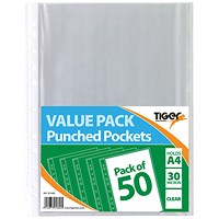 A4 Punched Pockets 30 Micron (Pack of 500)