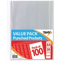 A4 Punched Pockets 30 Micron (Pack of 1000)