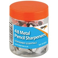 Metal Single Hole Pencil Sharpeners (Pack of 48)