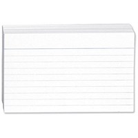 Revision and Presentation Cards 54 White (Pack of 10)