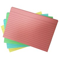 Revision and Presentation Cards, Multicolour, 152x101mm (10 packs of 54 cards)