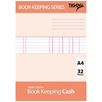 Book Keeping Cash Book A4 (Pack of 6) 302299