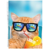 Cats and Dogs Twinwire Notepads A4 (Pack of 5)